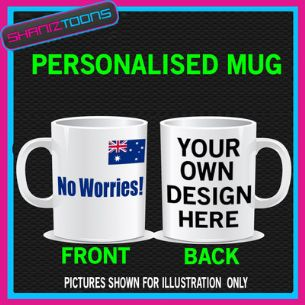 AUSTRALIA NO WORRIES BIRTHDAY MUG GIFT PERSONALISED